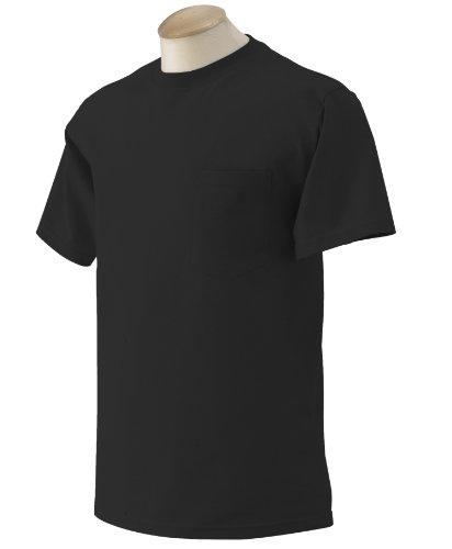 Gildan Ultra Cotton 6 oz. Pocket T-Shirt (G230)- BLACK,XL
