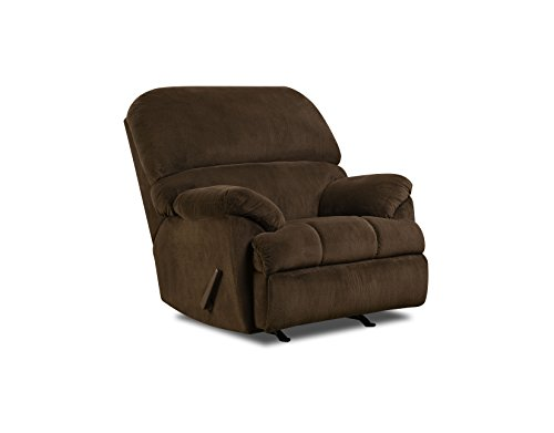 - Simmons Upholstery Dover Rocker Recliner Coffee