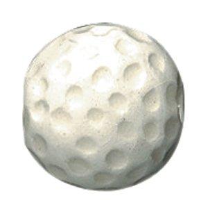 Shipwreck Beads 12mm Peruvian Hand Crafted Ceramic Golf Ball Beads , White, 8 per Pack -