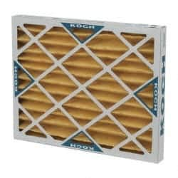 4 Pack 16 Nom Height x 20 Nom Width x 2 Nom Depth Value Collection Lofted Synthetic Polyester Fiber Wireless Pleated Air Filter