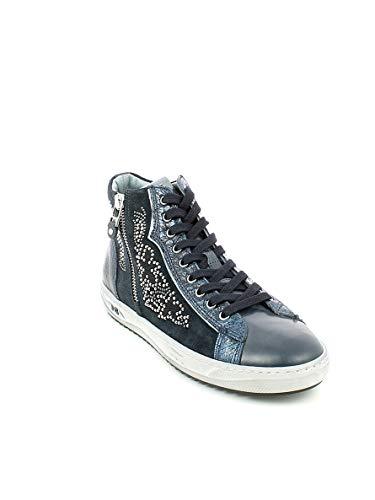 Nerogiardini sneaker Con Zip Blu Strass E Alta zZzTwq8
