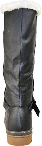 Botas De Invierno De Mujer Kozi Sg1478m Forradas En Piel Con Espuma De Memoria Negro 40m