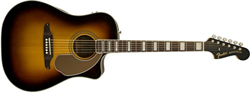 Fender California Series Kingman ASCE 6-String Acoustic-Electric Guitar + Case, Sunburst (California Fender)