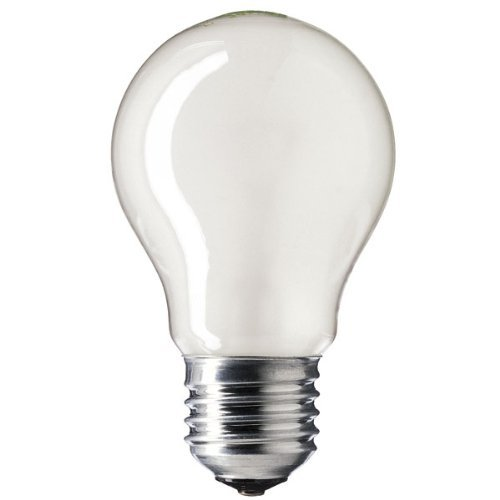 GE 100w ES/E27 (Edison Screw Cap) 110v GLS Opal/Pearl Finish Rough Service Bulb (Es Finish)