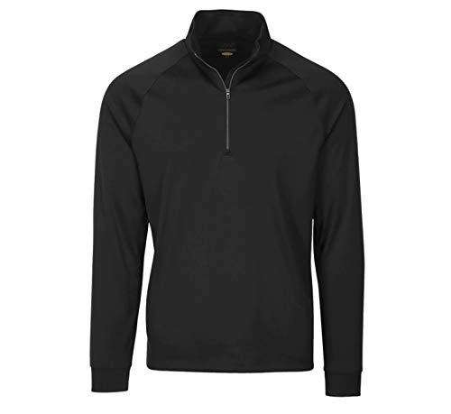 - Greg Norman Men's Long Sleeve 1/4-Zip Mock, Black, Large