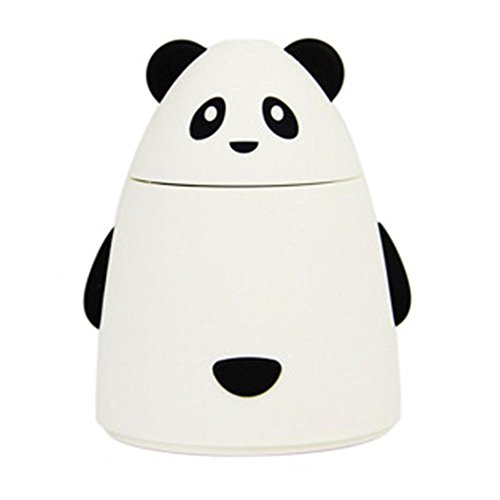 Happy-top® Cute Bear Shape Portable USB Mini 80ML Humidifier Air Diffuser Aroma Mist Maker Absorbent Filter Sticks for Home Room Office and Car (White)