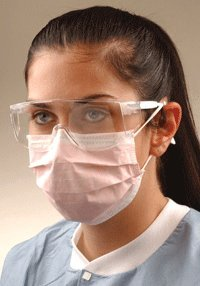 CROSSTEX ISOLITE EARLOOP MASK Mask, Latex Free, Pink, 50/bx, 10bx/ctn by Crosstex