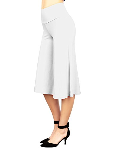 MBJ WB876 Womens Knit Culottes Pants XL White