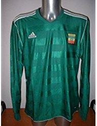Adidas Etiopía Largo Sleved Camiseta Jersey fútbol Adulto XL Maglia Copa Mundial África Verde