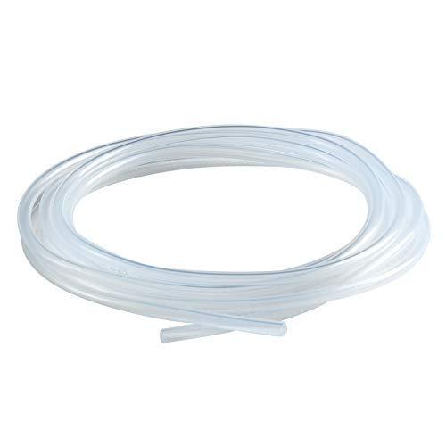 tanstool Tube en silicone Flexible 5mm ID x 10mm OD /Épaisseur de paroi 2.5mm 1m/ètre R/ésistance /à haute temp/érature Haut tuyau transparent deau tuyau