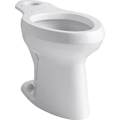 KOHLER K-4304-0 Highline Pressure Lite Toilet Bowl, White (0 White Highline Elongated Bowl)