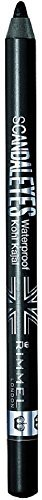 Rimmel London Scandal Eyes Waterproof Kohl Kajal Eyeliner, Black 0.04 oz (Pack of 3)