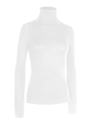 Womens Long Sleeve Turtleneck Sweater - 6