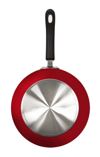 Ecolution Heavyweight 12-Inch  Fry Pan, Fiery Red