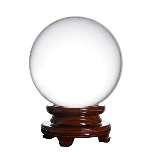 LONGWIN Huge Crystal Ball 250mm(9.8 inch) Feng Shui Ball Sphere with Free Wooden Stand