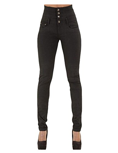 Legou haute Femme Large Noir Jeans Taille rxrantw
