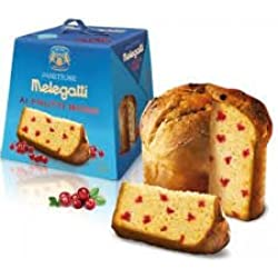 Melegatti Panettone Italian Cake with Cranberries, 26.4 Ounces (750g), Imported from Italy