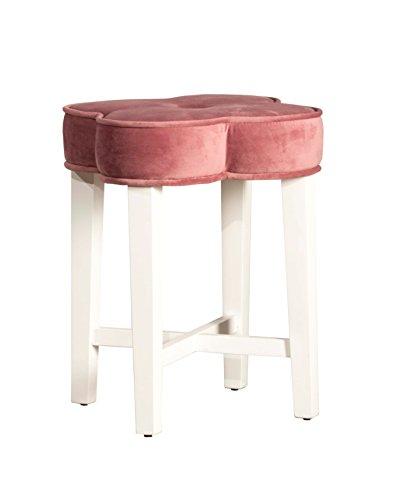 Hillsdale 51020 Clover Vanity Stool, Blush Pink