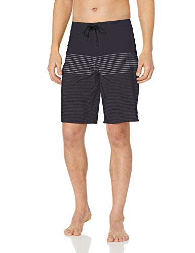 Billabong Men's All Day Heather Stripe Pro Boardshorts Charcoal - Classic Boardshorts