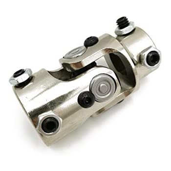 """NEW Polished Stainless Steel SS Steering Shaft U-Joint 3//4/"""" DD x 3//4/"""" DD Swivel"""