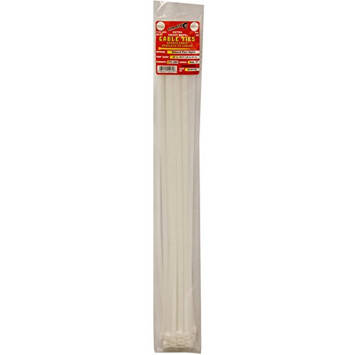 Tool City 14172 Cable Tie, White, 24.9