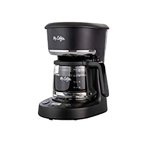 Mr. Coffee 5 Cup Programmable 25 oz. Mini, Brew Now or Later, with Water Filtration and Nylon Reusable Filter, Coffee…