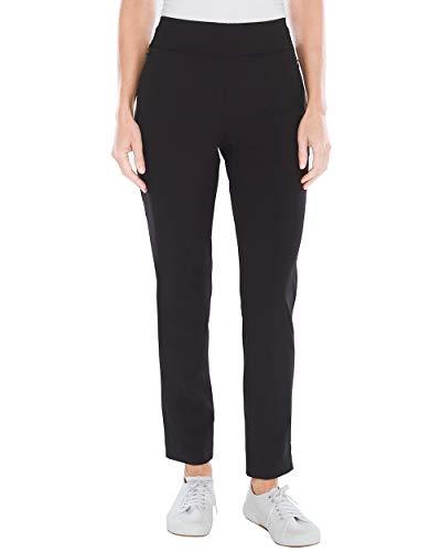Chico's Women's Zenergy Neema Knit-Waist Pants Size 20 XXL (4 REG) Black