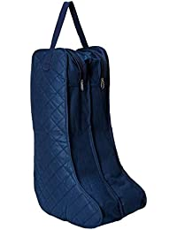 Marathon Housewares FW030002BL Quilted Boot Storage & Protector with Double Compartment and Tag, Blue