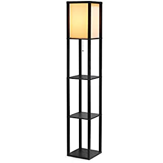 Floor lamps with shelves for living room modern do it yourselfore shine hai shelf floor lamp for living roomsbedrooms modern standing light with asian solutioingenieria Image collections