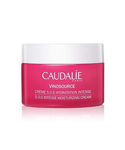CaudalÍe VinoSource S.O.S. Intense Moisturizing Cream. Hydrate, Plump and Soothe Skin with a Clean, Rich Formula made with Grape Antioxidants. Non-Comedogenic, Safe for Sensitive Skin (50 mL)