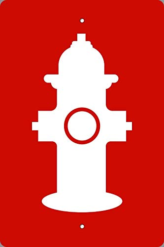BuildASign Fire Hydrant Marker Symbol Safety Sign- 18