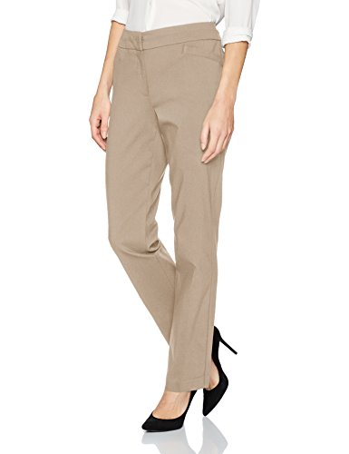 (Briggs New York Women's Split Waist Pant, Cobblestone, 10)