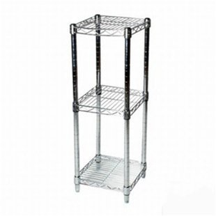 8''d x 8''w Chrome Wire Shelving with 3 Shelves by Shelving Inc