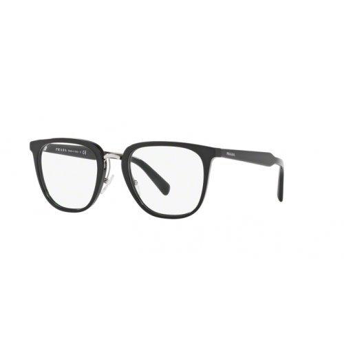 - Prada PR10TV Eyeglass Frames 1AB1O1-49 - Black PR10TV-1AB1O1-49