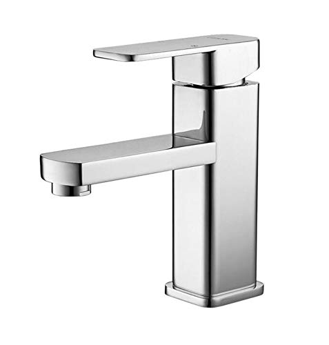 (360 Degree Swivel, Professional, Sprayer-Pull-Out,Chromecold Water Faucetfaucets Basin Faucet Tap Mixer Finish Brass Square Pillar Designer)