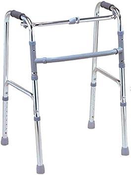 YEESEU Sillas de Ruedas Ligeramente Caminar Ajustable asistida conducción médica, Aluminio Walker Silla de Ruedas muletas peatones de Edad Avanzada