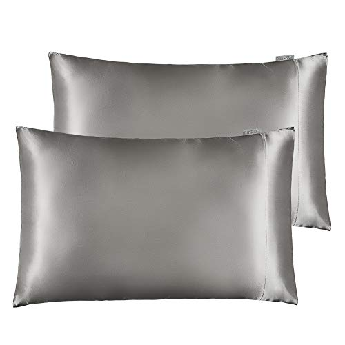 STONECREST Classic Home Decor, Inc Satin Pillowcase for Hair and Skin Care, Set of 2 Soft Breathable Queen Size Silky Satin Pillowcases (20'' x 30