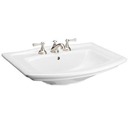 Barclay Washington 550 4 Inch Centerset Vitreous China Pedestal Sink