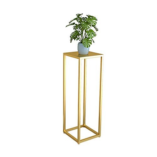 BENCONO Geometric Flower Stand Indoor Balcony Living Room Simple Corner Green Plant Flower Stand (Color : Gold, Size : 30cmx30cmx90cm) by BENCONO
