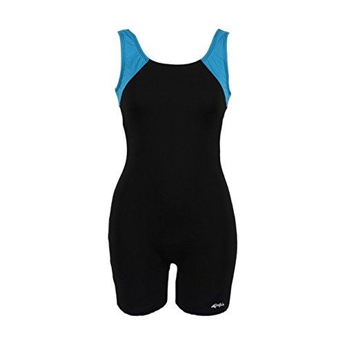 Dolfin Swimwear Women's Color Block Aquatard (Black/Turq, Size 16)