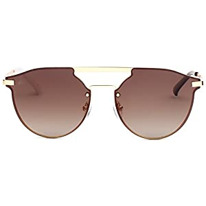 """PRIVÉ REVAUX ICON Collection """"The Parisian"""" Handcrafted Designer Polarized Round Sunglasses (Brown)"""