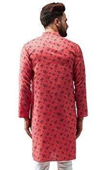 Indian-Traditional-Kurta-Pajama-Set-Shirt-Printed-Men-Kurta-Ethnic-Wear-XS-5XL thumbnail 13