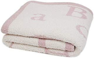 (Barefoot Dreams ABC Blanket, Dusty Rose)