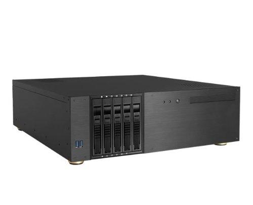 UPC 846813033275, iStarUSA D-350HB-DT 3U Compact 5x 3.5-Inch Bay Hotswap microATX Desktop Chassis - Black