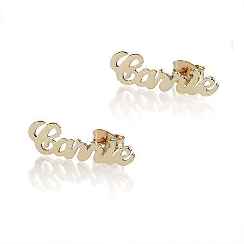 Plate Earring Personalized Jewelry Name (Custom Name Earrings Gold Personalized Engraved Nameplate Stud Earrings For Women Trendy Simple Elegant Jewelry Party Gifts (Name Earrings Gold))