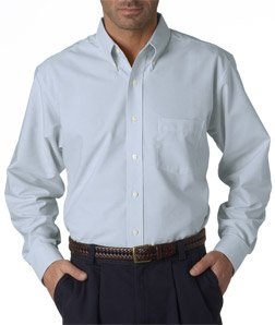 Men's Classic Wrinkle-Free Long Sleeve Oxford , Color: Light Blue, Size: Large