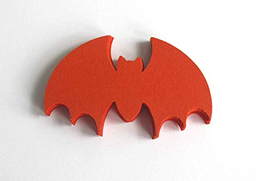 25 Orange Paper Bats, Halloween Vampire Bats Party Supply