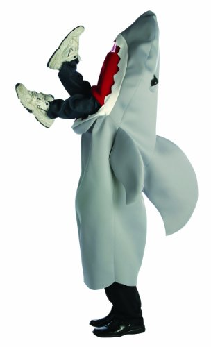Rasta Imposta Man-Eating Shark Costume, Gray, One Size