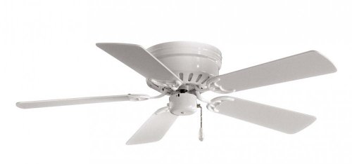 Minka-Aire F566-WH Flush Mount, 5 White Blades Ceiling fan, White ()