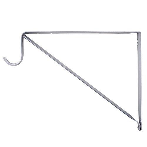 Closet-Pro RP-0045-PM Shelf And Rod Closet Bracket, Platinum (Installing A Closet Rod)